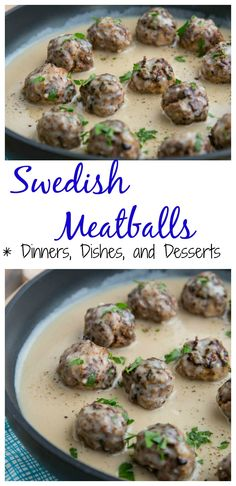Swedish Meatballs – Classic Swedish Meatballs seasoned with nutmeg and allspice, served in a rich beef gravy. Perfect over egg noodles or mashed potatoes.