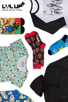 Show off your geek and gamer style when you Level Up! We'll send you EPIC monthly mystery socks, accessories, wearables and t-shirts starting at $8.99!
