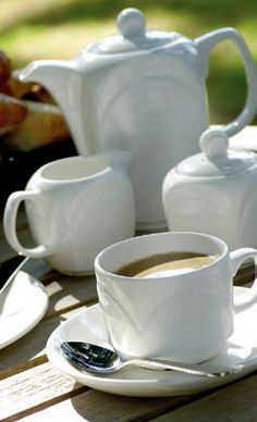 Steelite's Bianco Crockery Tea Set Creates the Perfect Atmosphere for Afternoon Tea in Garden