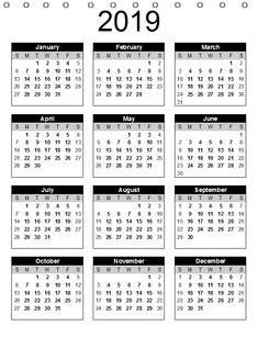 13 Best Free Desk Calendar 2019 Printable Template Images