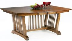 Beautifully crafted Classic Misison table with walnut diamond inlays..