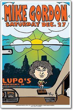 Mike Gordon Poster, Original Lupos Concert 11x17 Handbill - Phish