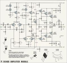 Circuit diagram 50W-70W Power Amplifier with 2N3055 & MJ2955