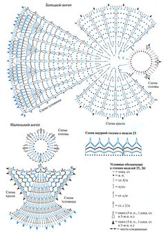 Interesting ideas for decor: Crochet angels . Crochet Diy, Crochet Chart, Thread Crochet, Crochet Motif, Crochet Doilies, Crochet Stitches, Crochet Diagram, Crochet Ornaments, Christmas Crochet Patterns