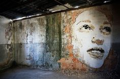 Street Artist Vhils Large-Scale Portraits | HomeDSGN, a daily source for inspiration and fresh ideas on interior design and home decoration.