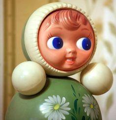 Vintage Roly Poly Doll  Nevalyashka  32cm  12 1/2 by cherryshop, $69.00