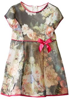 Us Angels Bonded Mesh Cap Sleeve Dress (Toddler)