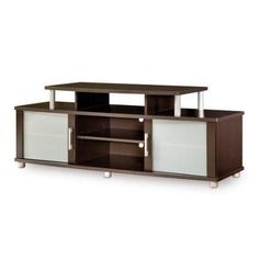 Modern TV Stand in Chocolate Finish - Fits up to 40-inch TVs