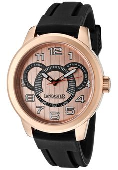 Price:$49.99 #watches Lancaster Italy OLA0459RG-NR-NR, This simplistic design is fashionable and bold. Adding this stylish Lancaster watch to your collection is sure to show off exquisitely on anyone's wrist.