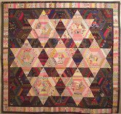 Karen Griska Quilts, Seven Sisters quilt, string quilt. See quilts and patterns: https://www.etsy.com/shop/KarenGriskaQuilts?ref=si_shop
