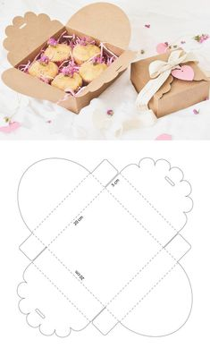 Caja de cartón para galletas – Cardboard box for cookies – The post Cardboard box for cookies – # biscuits appeared first on Craft Ideas. Diy Gift Box, Diy Box, Paper Gifts, Diy Paper, Paper Craft, Paper Box Template, Box Templates, Origami Templates, Box Patterns