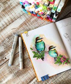 birds sketchbook pages