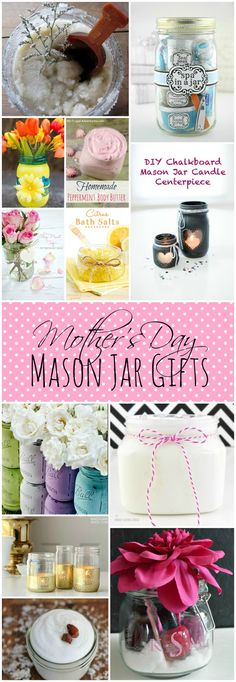 Mother's Day Gift Ideas | @ Mason Jar Crafts Love blog #masonjar #mothersday