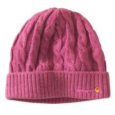 Carhartt Women s Acrylic Cable Knit Hat Beanie Cap Grape Heather One Size 1431d27c93b2