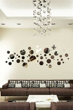 Cheap mural definition, Buy Quality mural decoration directly from China mural picture Suppliers: Funlife Bubble Round Reflective Chrome Mirror-like Wall Stickers Acrylic Decal DIY Headboard Art Mural Deco Stickers, Mirror Wall Stickers, Diy Wall, Wall Decor, Room Decor, Headboard Art, Bubble Wall, Cool Wall Art, Kids Wall Decals