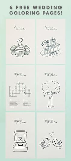 6 Free Kids Coloring Sheets for Weddings