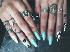 Nails and finger tattoos Gypsy 1