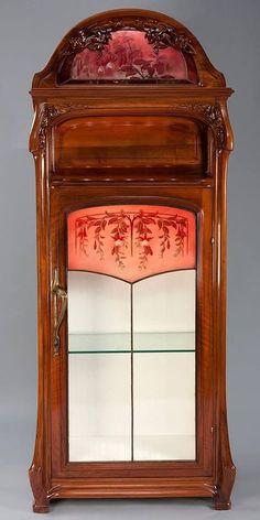 Jacques Gruber Art Nouveau Cabinet