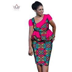African ankara Sets For Women Skirt Set Plus Size African Clothing Top With Skirt
