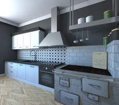 My job :) #kitchen with an #old #stove #retro #style