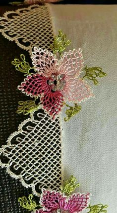 Needle Lace The moment Ifirst laid eyes on oya needlework was not as profound as one might imagine. Cross Stitch Needles, Cross Stitch Embroidery, Hand Embroidery, Embroidery Designs, Needle Tatting, Needle Lace, Bobbin Lace, Crochet Unique, Beautiful Crochet