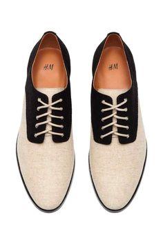 Płócienne buty oksford | H&M