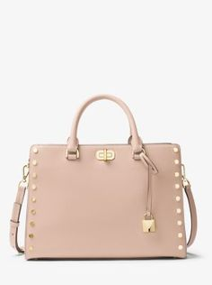 78661c732b Introducing the Sylvie  a studded leather satchel that s uptown-inspired  and downtown-desired