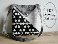 Triana Shoulder Bag Sewing PDF Pattern by Susie D Designs  #sewandsell #sewing