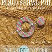 Plaid Shawl Pin - via @Craftsy