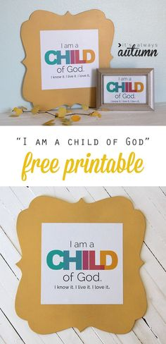 I am a Child of God free printable I am a child of God these would be the perfect for kids in a or Sunday school class! The post I am a Child of God free printable appeared first on School Ideas. Sunday School Rooms, Sunday School Lessons, Sunday School Crafts, School Kids, Church Activities, Primary Activities, Group Activities, Church Nursery, Church Crafts