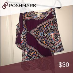 Off the shoulder blouse Never worn. Perfect condition. Francesca's Collections Tops Blouses