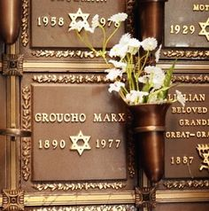 The grave of Groucho Marx - Eden Memorial Park, Mission Hills, Los Angeles https://www.flickr.com/photos/48124512@N02/galleries/72157623673238487/