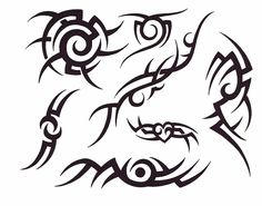 Artistic Tribal Tatto Stencil Designs ~ http://tattooeve.com/be-creative-create-your-own-tattoo-stencils/ Tattoo Design