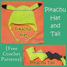 Oui Crochet: Pikachu Hat and Tail {Free Crochet Pattern}