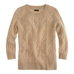 Get ready to be mine....Collection cashmere cable sweater #jcrew $160