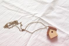 Wooden Bird Necklace By Iamacrylic At Etsy Com This Wooden Bird