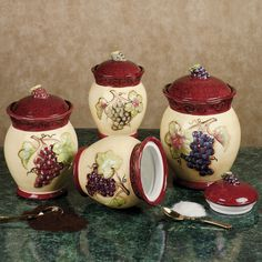 Tuscan Wine Canister Tuscany Kitchen Themes Decor Ideas