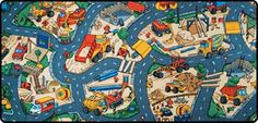 Construction Play Mat - Construction Play Rug: Under Construction Play Carpet
