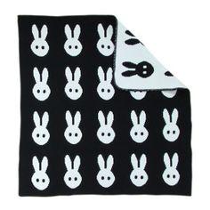 Barn Filt - Bunny Blanket by MiniWilla Cot Blankets, Knitted Baby Blankets, Scandinavian Nursery Furniture, Bunny Blanket, My Bebe, Nursery Accessories, Kawaii, Baby Bunnies, White Bunnies
