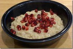 Custard oats on the stove