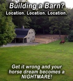 Building a Barn? Get it wrong and your dream becomes a nightmare. Dream Stables, Dream Barn, Horse Stables, Horse Barn Plans, Farm Lifestyle, Farm Plans, Run In Shed, Future Farms, Horse Property