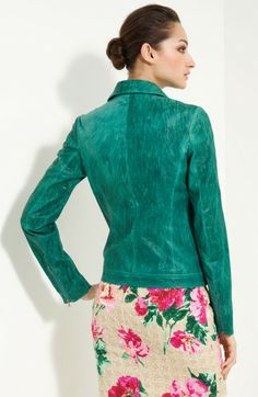 Green Leather Jacket | Jackets Leather jackets Dolce & Gabbana Jackets