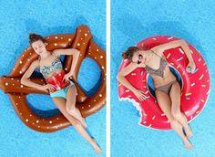 Pretzel and Donut Pool Floats