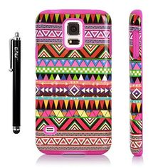 S5 Case, E LV Samsung Galaxy S5 Case - Shock-Absorption Hybrid Dual Layer Armor Defender Full Body Hard Aztec Tribal Pattern Design Protective Case Cover (Hard Plastic with Soft Silicon) for Galaxy S5 / Galaxy SV / Galaxy S V / Galaxy i9600 - Purple, http://www.amazon.com/dp/B00J8C2UBS/ref=cm_sw_r_pi_awdm_XD-sub1M0VYBR