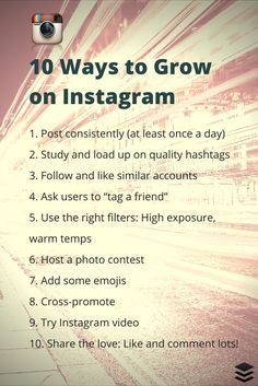 Top 10 Proven Tactics to Grow Followers onInstagram | https://blog.bufferapp.com/instagram-growth?utm_content=buffer2b48d&utm_medium=social&utm_source=pinterest.com&utm_campaign=buffer viaBufferr