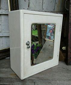 Rare Vintage Antique Industrial Bathroom Medicine Cabinet White Retro  Mirror Old In Home, Furniture U0026 DIY, Furniture, Cabinets U0026 Cupboards | EBay