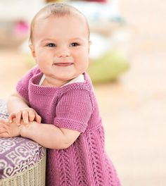 Free Girls Pinafore Dress Knitting Pattern