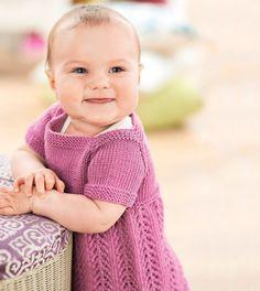 Free Girls Pinafore Dress Knitting Pattern