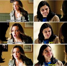 "#TheFlash 1x19 ""Who is Harrison Wells - Laurel and Cisco. This scene makes me giggle every single time I see it."