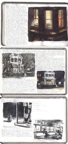 Edward Hopper sketches - c.1920s